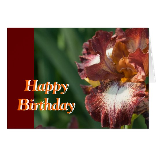 Variegated Iris Birthday Card