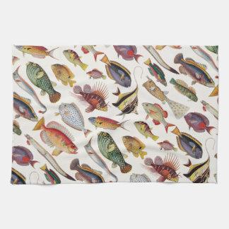 Varieties of Fish Hand Towels