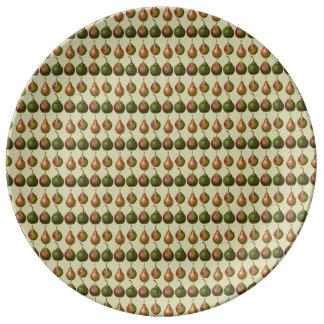 Varieties of Pears Porcelain Plate
