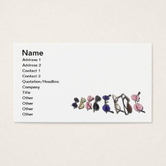 Variety of Colorful Glasses Business Card