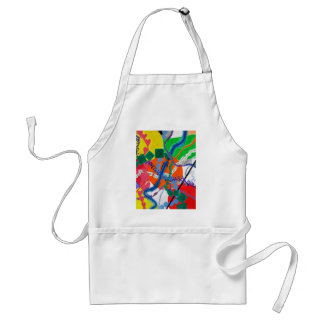 Variety of Paths Abstract Painting Standard Apron