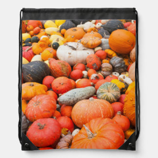 Variety of squash for sale, Germany Drawstring Bag