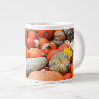Variety of squash for sale, Germany Large Coffee Mug