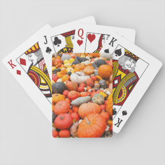 Variety of squash for sale, Germany Playing Cards
