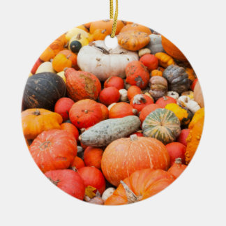 Variety of squash for sale, Germany Round Ceramic Ornament