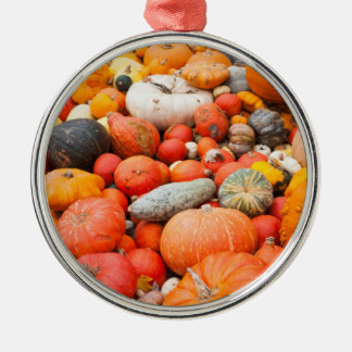 Variety of squash for sale, Germany Silver-Colored Round Ornament