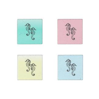 Variety Seahorses Stone Magnets