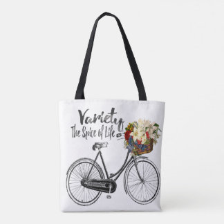 Variety the spice of life bike tote bag