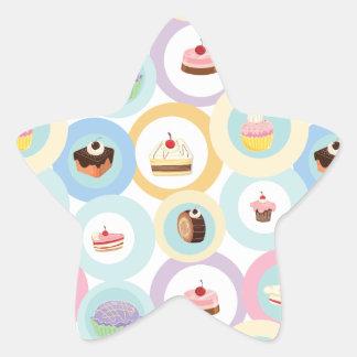 various cakes star sticker