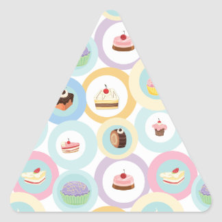 various cakes triangle sticker