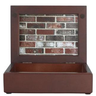 various color brick wall pattern keepsake box