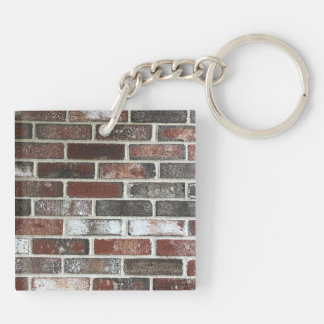 various color brick wall pattern keychain
