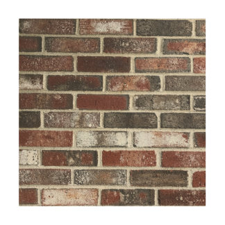 various color brick wall pattern wood canvases