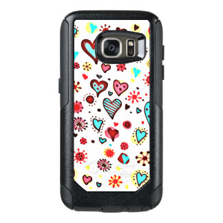 Various Cute Hearts Pattern OtterBox Samsung Galaxy S7 Case