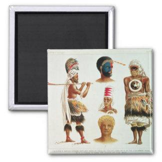 Various Dancing Costumes Worn at Nakello, Fiji Magnet