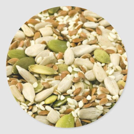 Various Eatable Seeds Classic Round Sticker