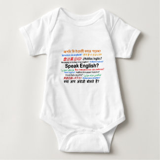 Various Language Products - Speak English? Baby Bodysuit