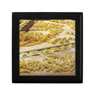 Various mix of fresh italian homemade pasta gift box