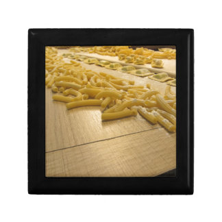 Various mix of fresh italian homemade pasta trinket box
