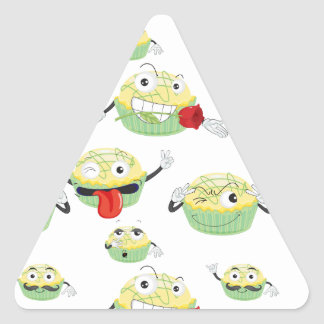 various moods of cake triangle sticker
