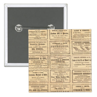 Various oil advertisements 2 inch square button