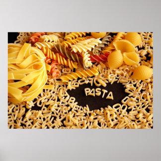 various pasta poster
