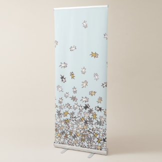 Various pattern Lots of cats Blue Retractable Banner