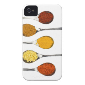 Various seasoning spices on metal spoons Case-Mate iPhone 4 cases
