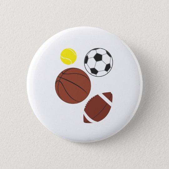 Various Sports Balls  Button Badge