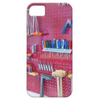 Various tools hanging at wall in high school iPhone 5 covers