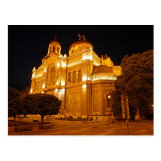 Varna Cathedral At Night Postcard