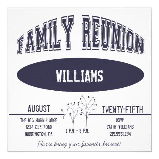 Varsity Family Reunion Invitation