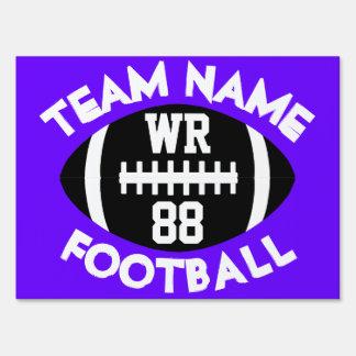 Varsity HS Football Team Player Custom Color Text Sign