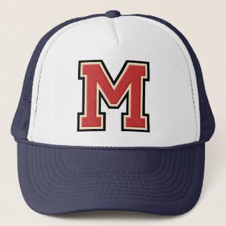 Varsity Letter M Initial Trucker Hat