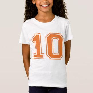 VARSITY Orange and White #10 BIRTHDAY Tee