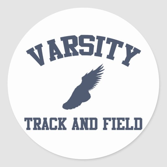 Varsity Track and Field Classic Round Sticker