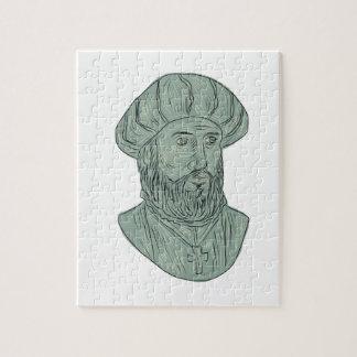 Vasco da Gama Explorer Bust Drawing Jigsaw Puzzle
