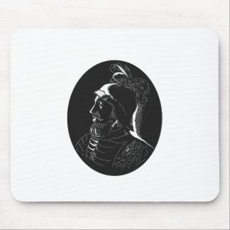Vasco Nunez de Balboa Conquistador Woodcut Mouse Pad