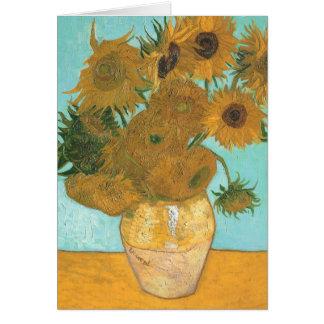 Vase avec 12 tournesols par la fleur de cru de Van Cartes