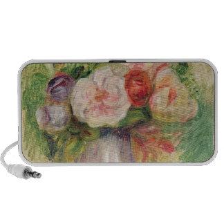 Vase de fleurs (huile sur la toile) haut-parleurs ordinateur portable