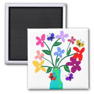 Vase n Flowers magnets