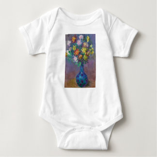 Vase of Chrysanthemums Claude Monet Baby Bodysuit