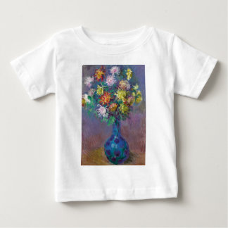 Vase of Chrysanthemums Claude Monet Baby T-Shirt