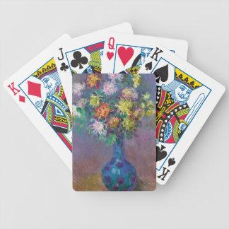 Vase of Chrysanthemums Claude Monet Bicycle Playing Cards
