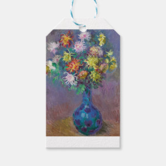 Vase of Chrysanthemums Claude Monet Gift Tags