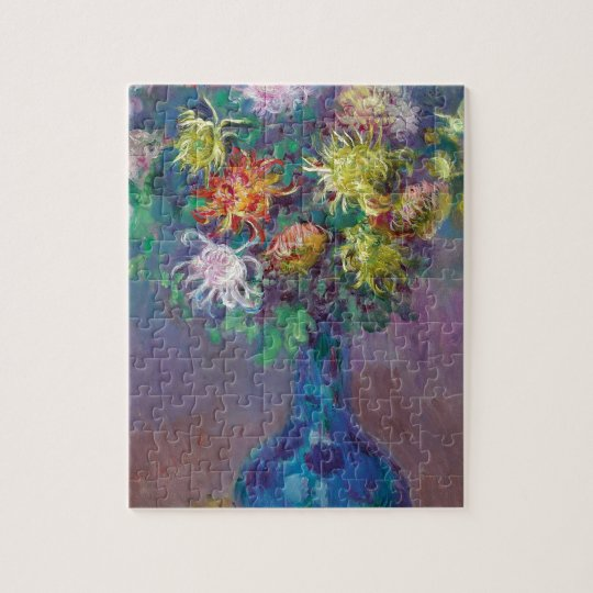 Vase of Chrysanthemums Claude Monet Jigsaw Puzzle