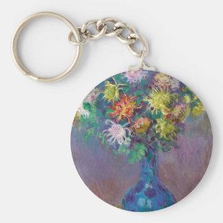 Vase of Chrysanthemums Claude Monet Keychain