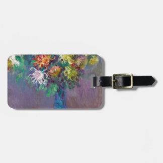 Vase of Chrysanthemums Claude Monet Luggage Tag