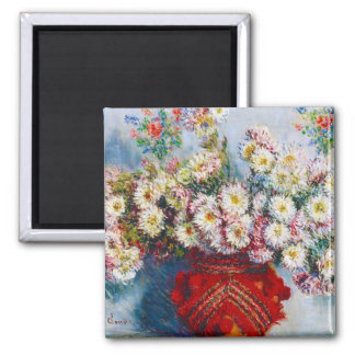 Vase of Chrysanthemums Claude Monet Magnet