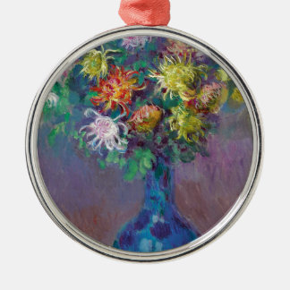 Vase of Chrysanthemums Claude Monet Metal Ornament